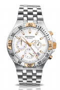 Sekonda 3430 Gents Stainless Steel Chronograph Ivory Dial Sports Watch